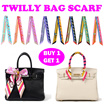 [BUY 1 GET 1] Twilly Bag Scarf / Versatile Multi-Scarf / Small Scarf/ HairBand/ Bracelet / Tie/ Ribbon Bow / Handbag accessories / MultiPurpose Scarf / Mothers Day Gift