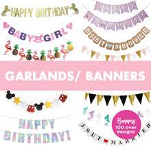 ▼▼▼ Banners / Letter Banners/ Buntings/ Garlands/ triangle flags ▼▼▼