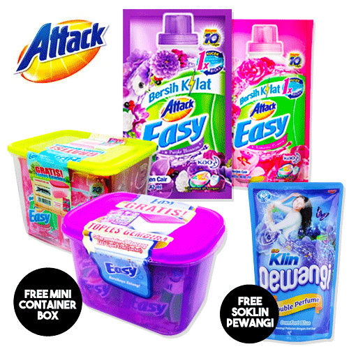 **GRATIS So Klin Pewangi||** ATTACK EASY LIQUID 42ml x 24 sachet Deals for only Rp40.500 instead of Rp69.828