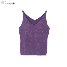 3a1fe4b00bf Quick View Window OpenWishAdd to Cart. rate new. wholesale WEIXINBUY Sexy  Women Fashion Summer Icecream Camisole Bruiser Crop Top Glittering Knitting
