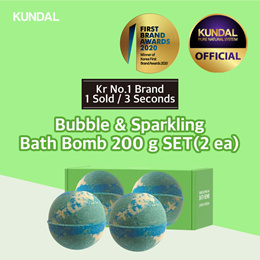 [KUNDAL] Bubble and Sparkling Bath Bomb 200g SET ✨Kr No.1 Brand✨⭐1 sold in EVERY 3 Seconds⭐