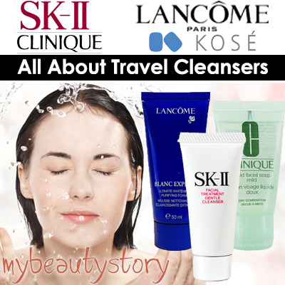 [5PM TO 12AM ONLY!] All About Travel Cleansers - SK-II Clinique Lancome Kose