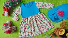 EKSKLUSIF Paket Gamis Baju Muslim Anak Bayi Perempuan plus Jilbab dan