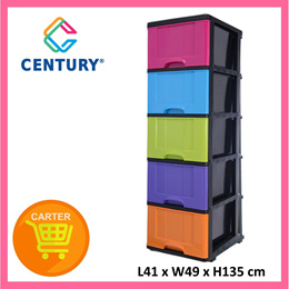 Century B9650MC Multi Colour 5 Tier Drawer