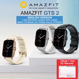 [Official Amazfit Singapore] AMAZFIT GTS 2 Music Storage Waterproof GPS Smart Watch | English