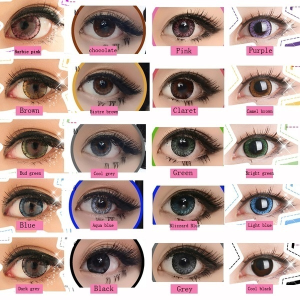 1 Pair Fashion Colored Eyes Contact Lenses + 1pcs Case + Free Gift