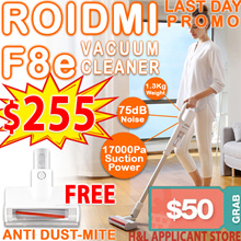 FREE ANTI DUST MITEL$50 Apply Discount $250* Xiaomi Roidmi F8e handheld cordless vacuum cleaner