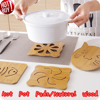 ❤3 in 1 Wooden Hot Pot Pads/Durable and Beautiful Hot Pads/Mat Table Pad Coaster Kitchen Dining Dec