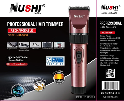 New Launch 30 Qty Only! Nushi Rechargeable ElectricHair Trimmer / HairClipper Set (6 Month