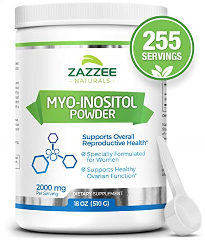 Myo-Inositol Powder | 18 Ounces (510 g) | 340 Servings | 1500 mg per  Serving | 100% Pure | Vegeta
