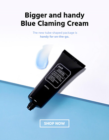 [KLAIRS] New Size!! Free Shipping!! BLUE LINE : Blue calming cream blue drop soothing cream
