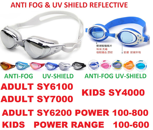Anti fog/UV shield Adult/ kids Swimming goggles/Diving goggles adjustable Deals for only S$20 instead of S$0