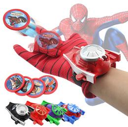 💖 Superheros Shooting Glove 💖 Kids Toys Batman Spiderman Captain America Hulk Ultraman 💖