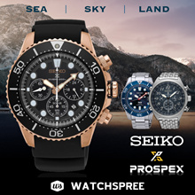 [SEIKO] PROSPEX Collection. Automatic Diver Solar Chronograph Kinetic Watches. Free Box and Warranty