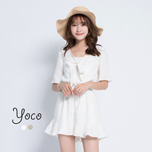 YOCO - Jumpsuit with Bow Detail-171226