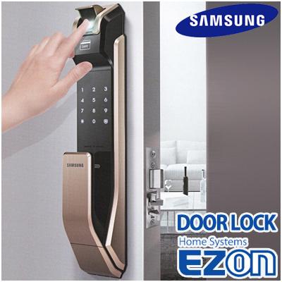 SAMSUNG DIGITAL DOORLOCK EZON Fingerprint PUSH PULL GOLD Door Lock SHS-P910 / both way