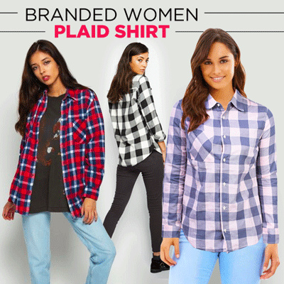 New Collection Branded Women Plaid Shirt Deals for only Rp55.000 instead of Rp55.000