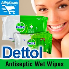 【Dettol】Antiseptic Wet Wipes ● 10Sheets x3Packs ● 50Sheets ●