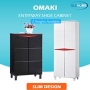 【OMAKI】 Entryway Shoe Storage Cabinet/Modern Wood Tall Shoe Organizer/Household Furniture/Shoe Rack