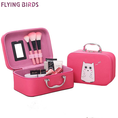 factory FLYING BIRDS Cosmetic Bags Box Makeup Bag Women Cosmetic Cases Cute Beauty Case Travel purse