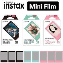 Fujifilm Instax Mini Pink Lemonade Sky Blue Black Frame Polaroid Instant Film