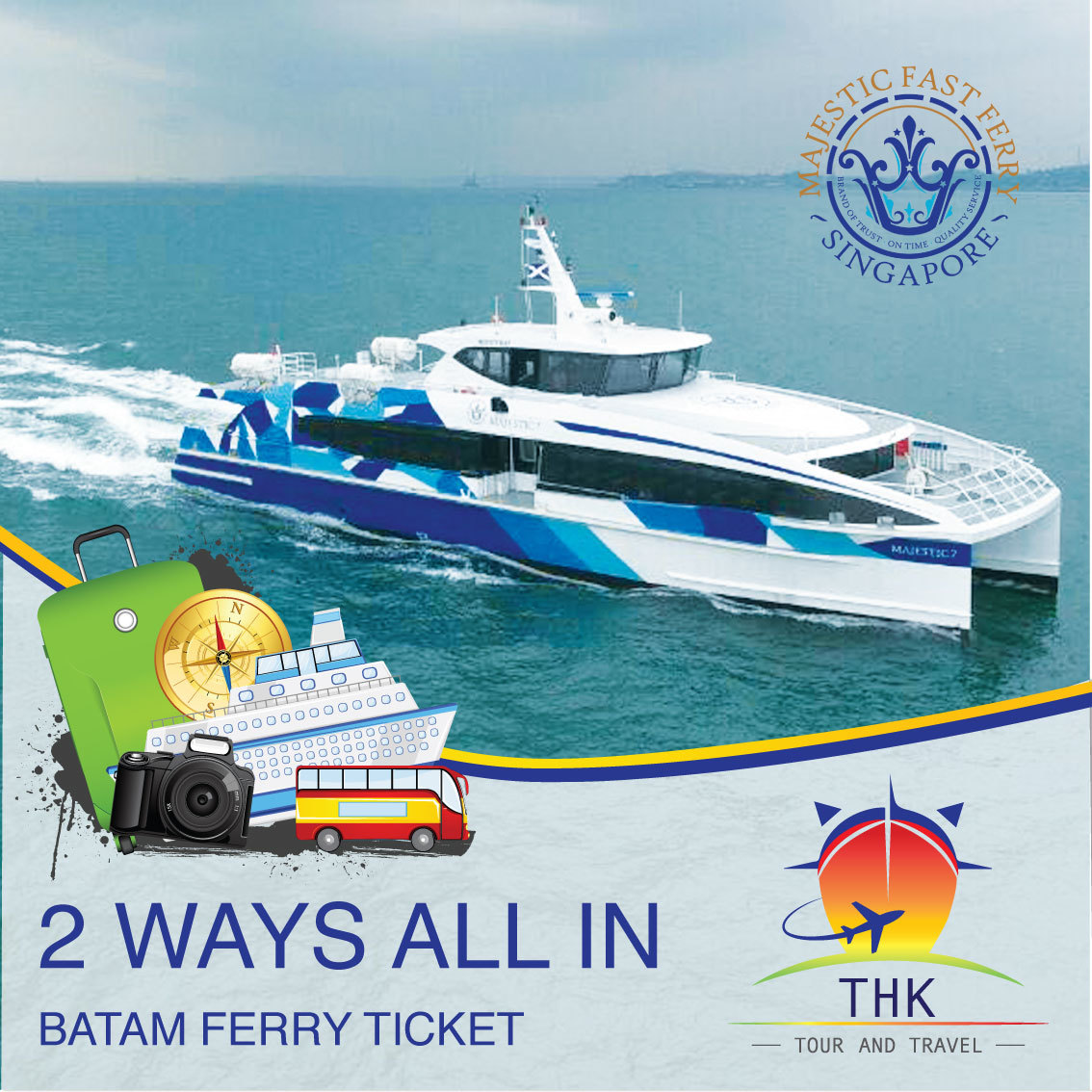 Sg Batam 2way Majestic Fast Ferry Ticket Including All Tax With Prompt E Boarding Pass Upon Confirm