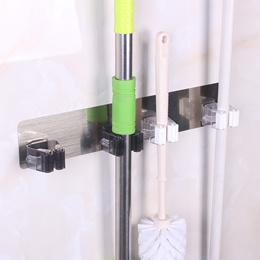 Broom Mop Holder /Brush Gripper Holds/ Self Adhesive Reusable  holder / Wall Mounted Mop Organizer