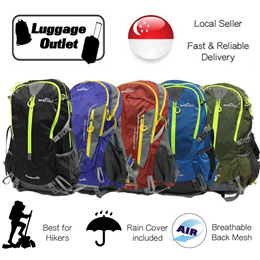 ★For trekking★ 35L 40L Hiking Bag with Rain Cover / Breathable Mesh Support / Backpack