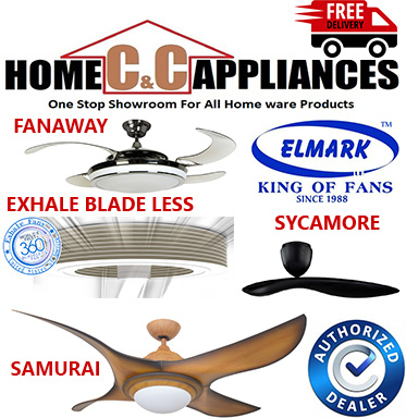 Elmark Samurai Ceiling Fan | Elmark Fanaway | Elmark Sycamore | Remote Control |