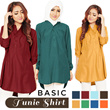 Kemeja Tunik Lengan Panjang - 3 size M L XL - 7 warna - BEST SELLER! Women Blouse