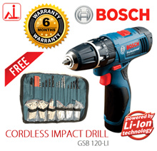 Bosch GSB 120-LI Professional 12V Cordless IMPACT Drill/ Driver (FREE Wrap Set)