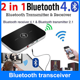 ★2-In-1 Wireless Bluetooth Transmitter + Receiver★Adapter Speaker Audio★Music Streaming Switchable
