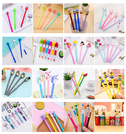 Children Xmas Gifts Unicorn Vitamin Ball pens Minions  rainbow ball pen Fancy Stationery goodies