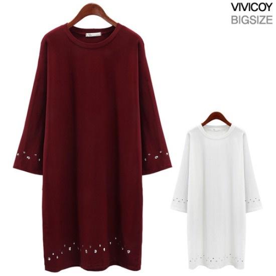ビビ鯉二列ちんワンピースANG 綿ワンピース/ 韓国ファッション