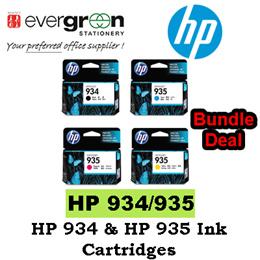 HP 934 Black HP 935 C/M/Y Ink Cartridges Bundle Pack