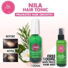 Nila Hair Tonic 100ml FREE Anti Frizz Hair Mist - Promotes Hair Growth!