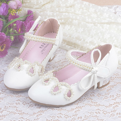 960144dfbc18 Children Princess Sandals Kids Girls Wedding Shoes High Heels Dress Shoes  Party Shoes for Girls Leat