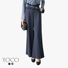YOCO - Pinstriped Belted Trousers-172749-Winter