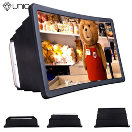 Screen 3D Movie Screen Enlarge Magnifier Projector Stand Holder For Phone