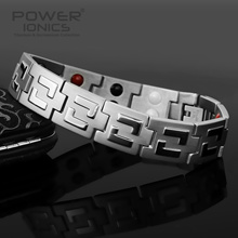 New Power Ionics 100% Titanium Magnetic F.I.R Healthy 4in1 Multifunction Bracelet Balance Wristband w/Box PT026