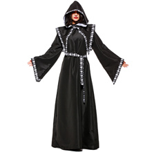 Stage Performance Nun Cosplay Costume Halloween Female Reapers Scythe Role Play 189L910