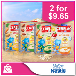 Bundle of 2 PROMO!![Nestle]CERELAC® Rice and Mixed Fruits/Mixed Vegetables/Chicken/Wheat and Honey