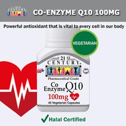 [21st Century] Co-Enzyme Q10 100mg 45 Veg Capsules
