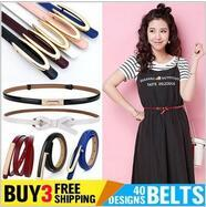 【Buy 3 Free Shipping】【No Option Price】Korean version of the leather dress decorative belt female