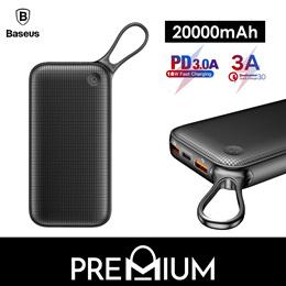 BASEUS Powerbank 20000mAh PD Charger Dual QC 3.0 USB Fast Charging Power Delivery Bank  Xiaomi