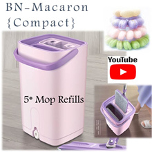 🇸🇬 [2018 BN-Macaron] 🇸🇬 Premium Spin Mop Set with 5x mop refill Compact in size