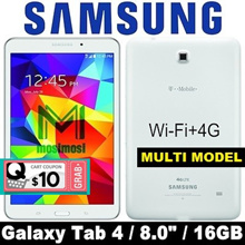 (MAKE $119) Samsung Galaxy Tab 4 / 8.0 inch / Wi-Fi+4G / SM-T337 / 1.5GB RAM / 16GB ROM / Refurbish
