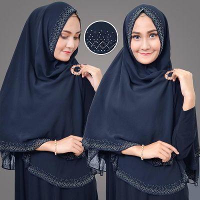 Qoo10 Hijab K6d99f5 Almeira Bergo Syari Blink Stone Aksesoris Fashion