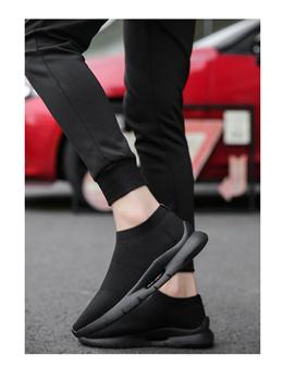春季男运动鞋潮鞋针织鞋袜子休闲鞋/弹力男鞋