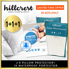 [Buy 1+1 ]BEST SELLING !! HillCrest Pillow Protector Anti dustmite water absorbent